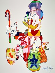 Scrooge McDuck by Richard Zarzi - Original Painting on Box Canvas sized 32x42 inches. Available from Whitewall Galleries